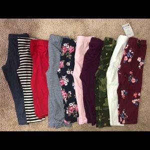 Bundle: 10 Baby Girl Size 18m Leggings